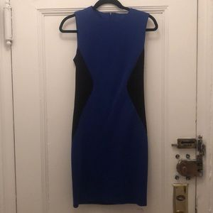 Necessary Objects Small blue and black work dress